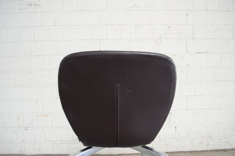 Rare Prototype of ClassiCon Munich Chair Brown Leather 10