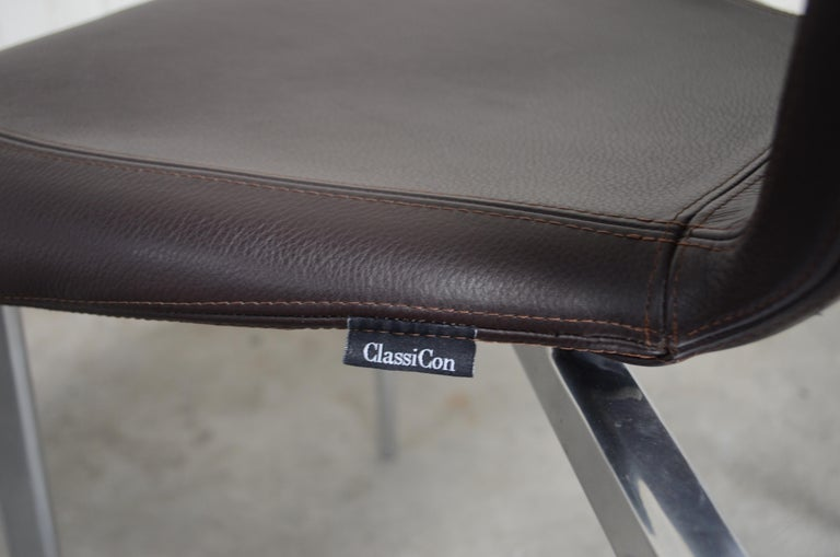 Rare Prototype of ClassiCon Munich Chair Brown Leather 11