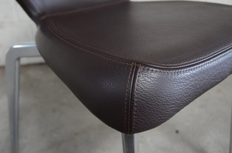 Rare Prototype of ClassiCon Munich Chair Brown Leather 13
