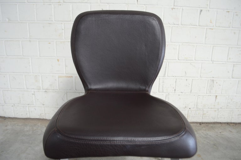 Rare Prototype of ClassiCon Munich Chair Brown Leather 14