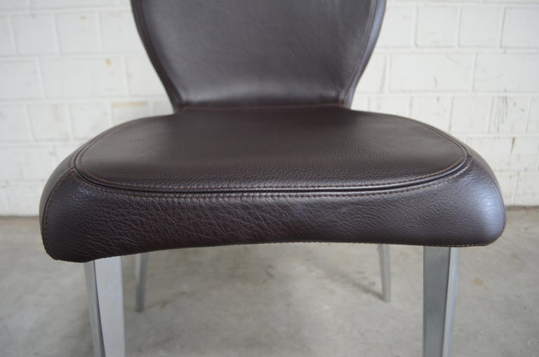 Rare Prototype of ClassiCon Munich Chair Brown Leather 15