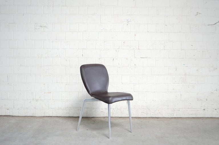 Rare Prototype of ClassiCon Munich Chair Brown Leather 2