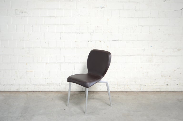 Rare Prototype of ClassiCon Munich Chair Brown Leather 3