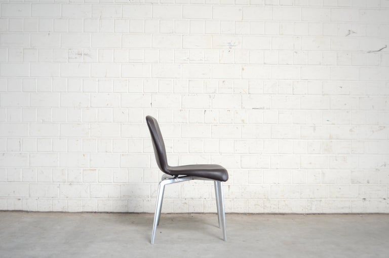 Rare Prototype of ClassiCon Munich Chair Brown Leather 8