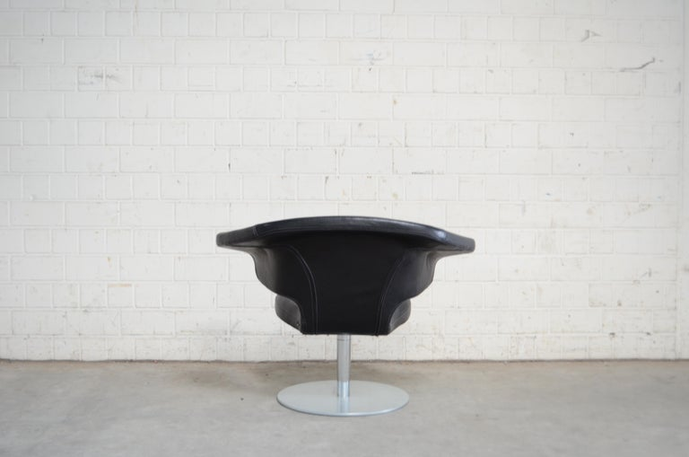 Rare Prototype of ClassiCon Munich Lounge Chair Black Leather For Sale 8