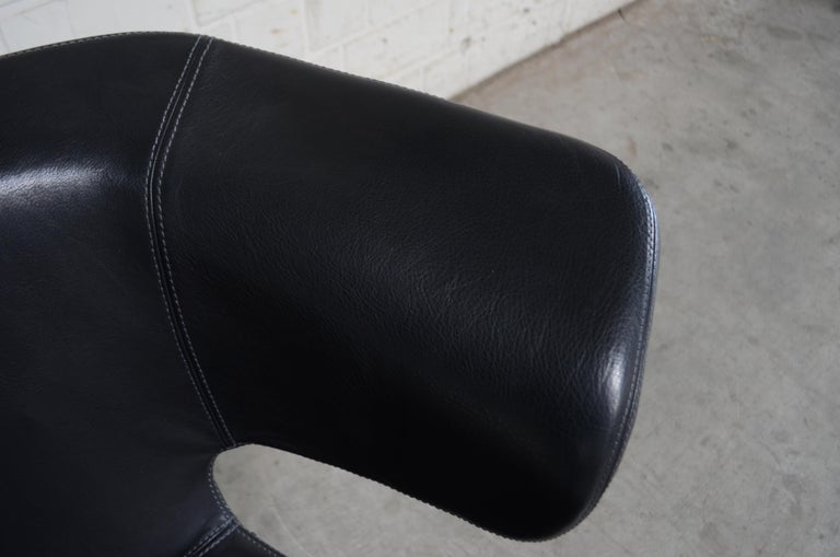 Rare Prototype of ClassiCon Munich Lounge Chair Black Leather For Sale 9