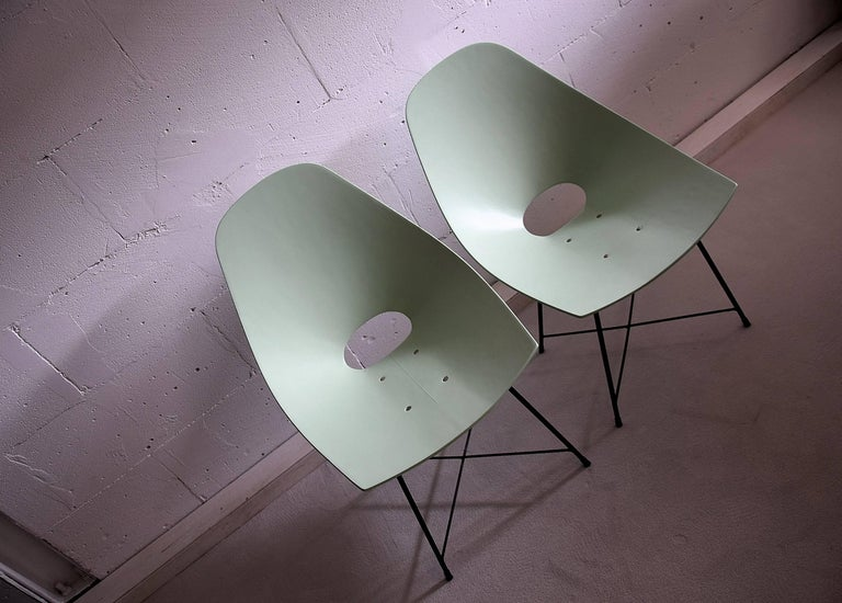 Mid-Century Modern Mid Century Modern Rare Prototype Set  Chairs by Augusto Bozzi For Sale