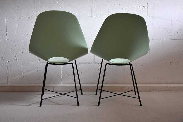 20th Century Mid Century Modern Rare Prototype Set  Chairs by Augusto Bozzi For Sale