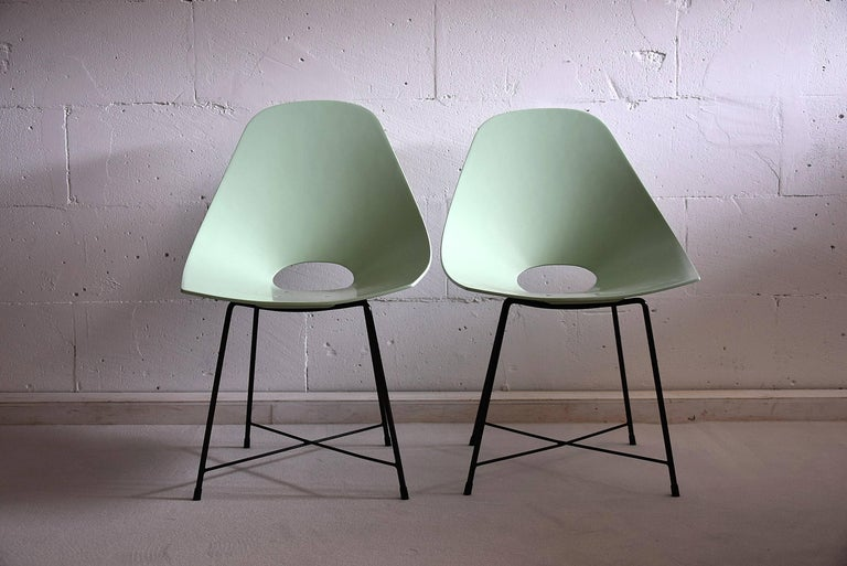 Mid Century Modern Rare Prototype Set  Chairs by Augusto Bozzi For Sale 2