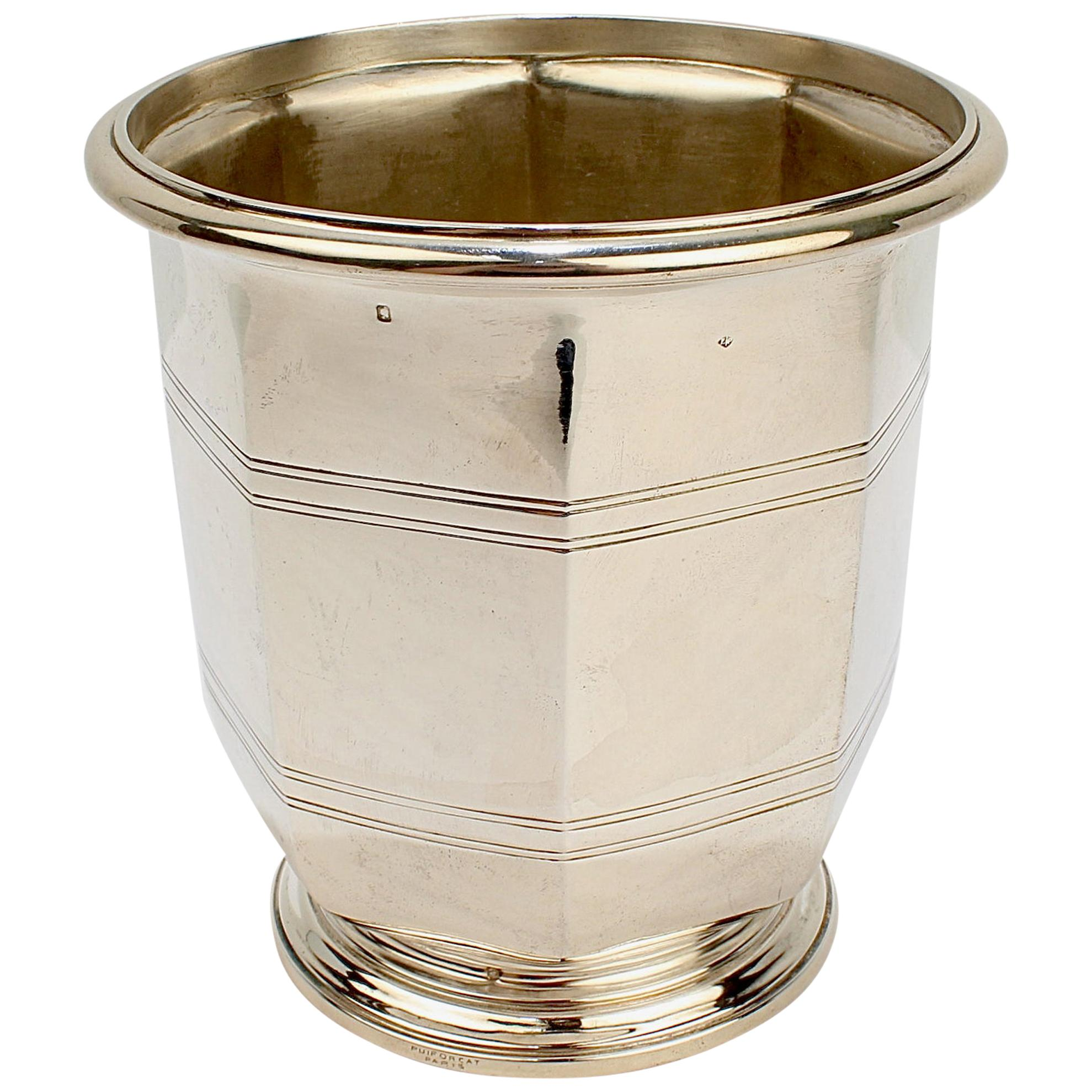 Rare Puiforcat Sterling Silver French Art Deco Champagne / Wine Cooler or Bucket