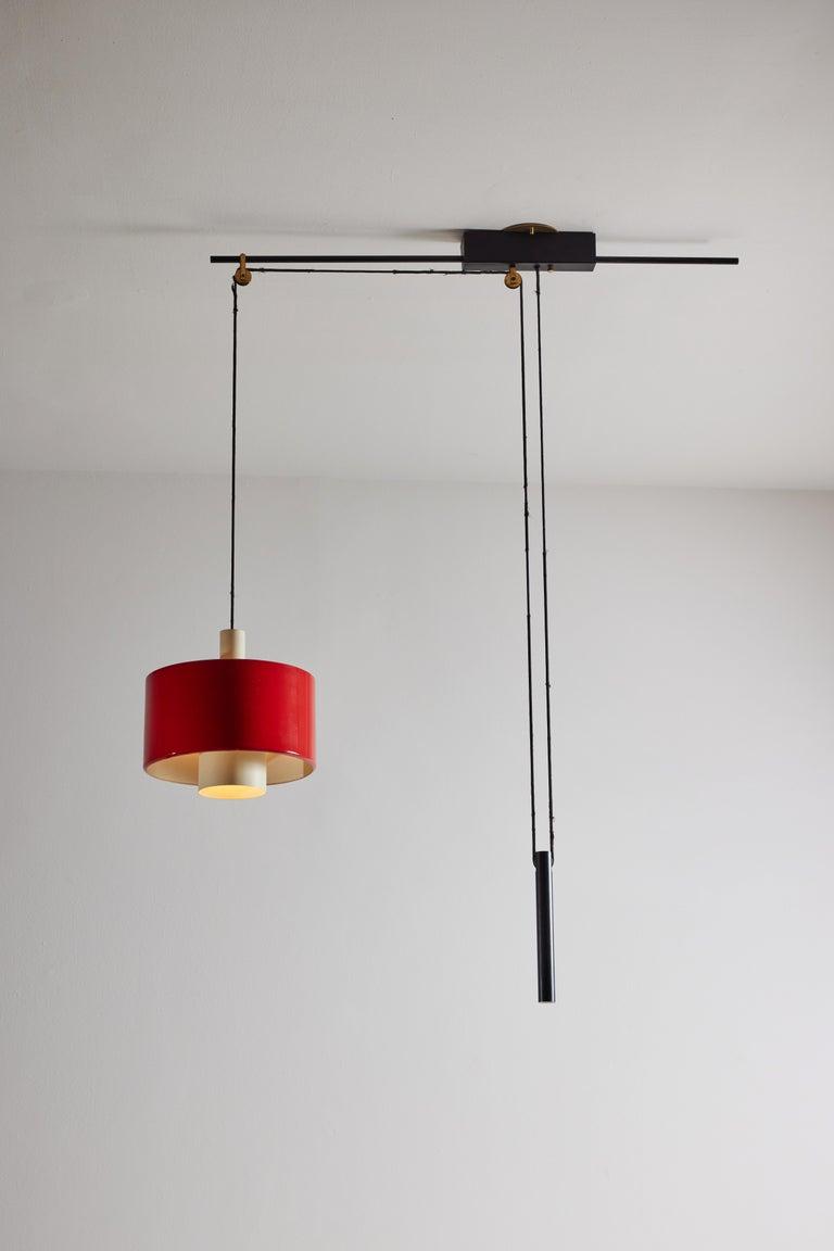 Rare Pulley Suspension Light by Gaetano Sciolari for Stilnovo For Sale 3