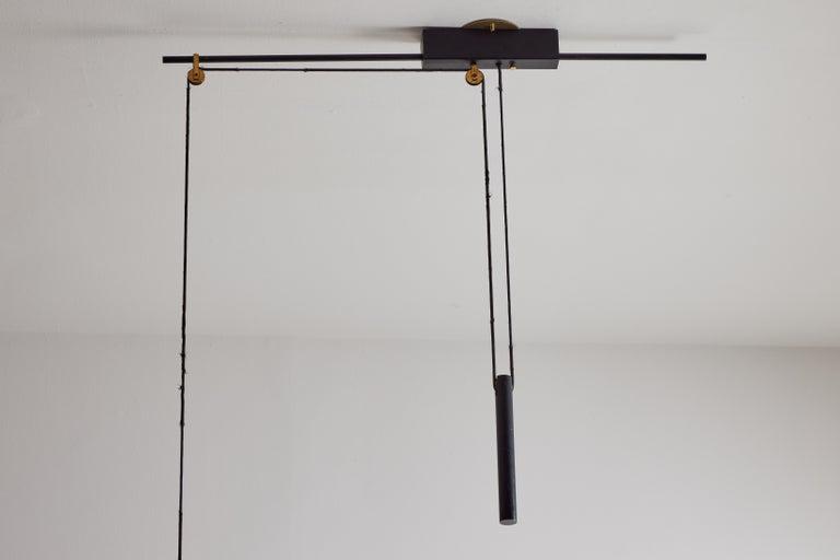 Rare Pulley Suspension Light by Gaetano Sciolari for Stilnovo For Sale 4