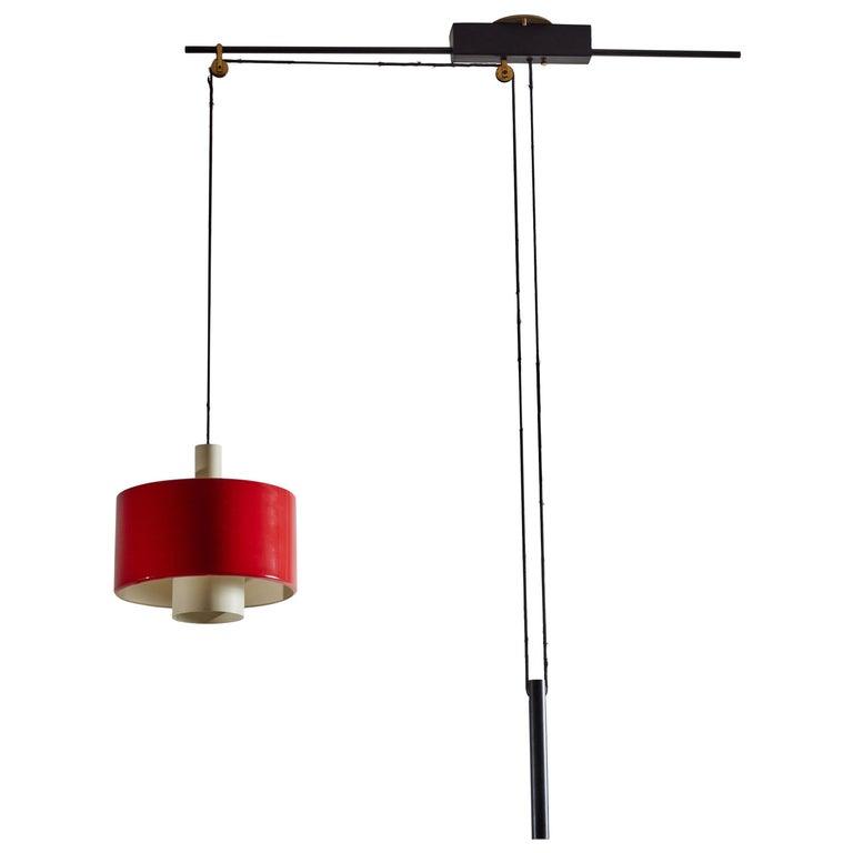 Rare Pulley Suspension Light by Gaetano Sciolari for Stilnovo For Sale