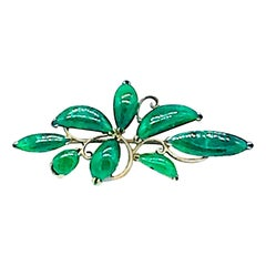 Rare Quality Apple Green, Jadite 1940s Leaf Pin