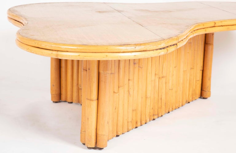 Rare Rattan Coffee Table Attributed to Paul Frankl For Sale 6