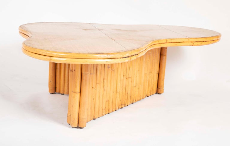 Rare Rattan Coffee Table Attributed to Paul Frankl For Sale 7