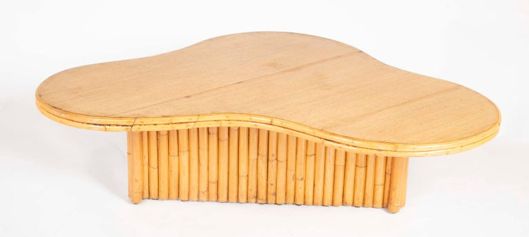 Rare Rattan Coffee Table Attributed to Paul Frankl For Sale 8