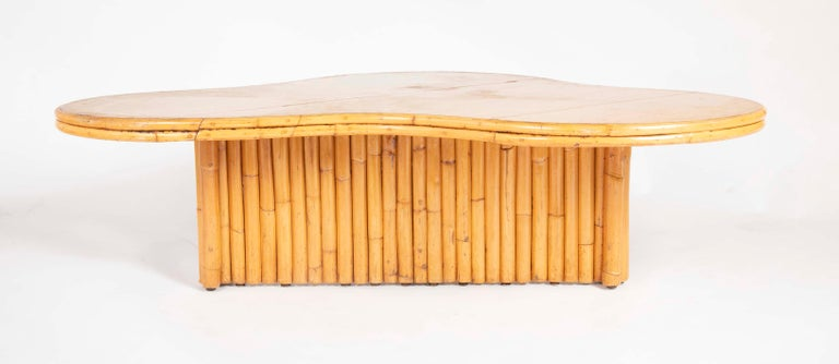 Rare Rattan Coffee Table Attributed to Paul Frankl For Sale 9