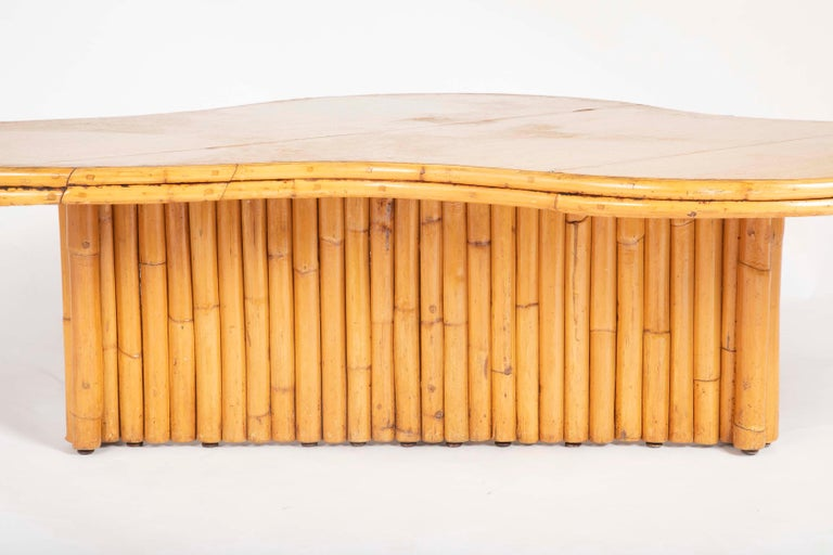 Rare Rattan Coffee Table Attributed to Paul Frankl For Sale 10