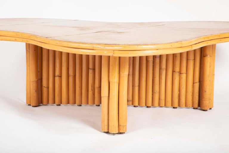 Rare Rattan Coffee Table Attributed to Paul Frankl In Good Condition For Sale In Stamford, CT