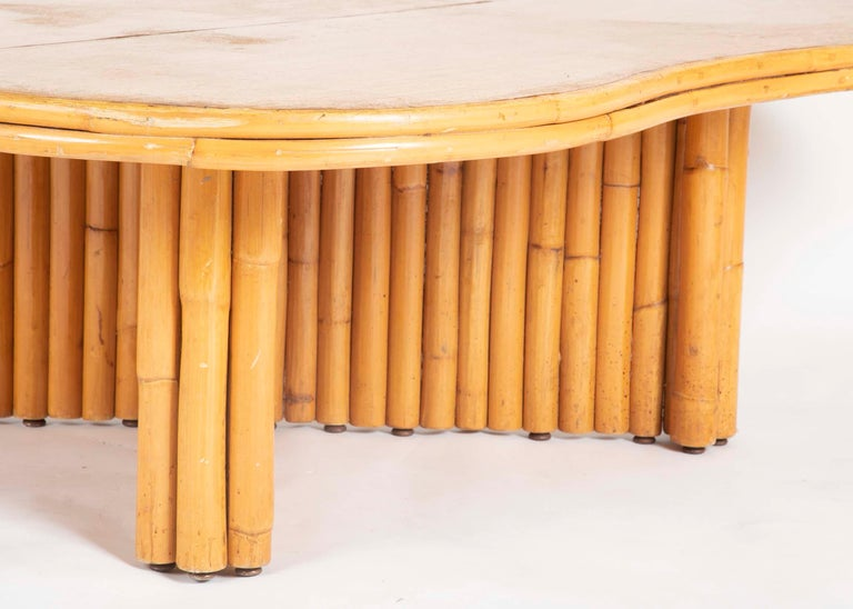 Mid-20th Century Rare Rattan Coffee Table Attributed to Paul Frankl For Sale