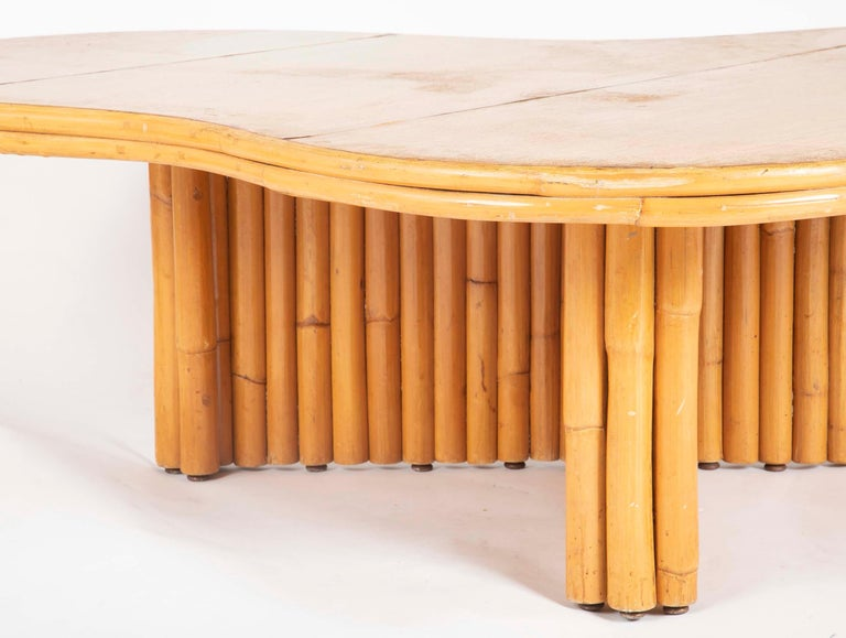 Rare Rattan Coffee Table Attributed to Paul Frankl For Sale 1