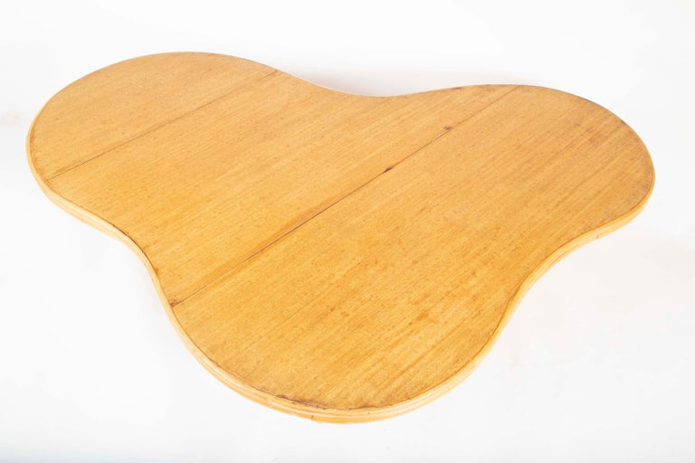 Rare Rattan Coffee Table Attributed to Paul Frankl For Sale 2