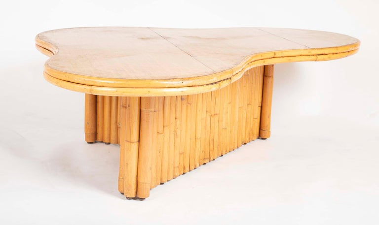 Rare Rattan Coffee Table Attributed to Paul Frankl For Sale 5