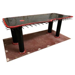 """Rare Red and Black Resin """"Sansone II"""" Dining Table by Gaetano Pesce for Cassina"""