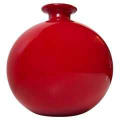 Rare Red Carnaby Ball Vase by Per Lütken for Holmegaard, Denmark, 1970s