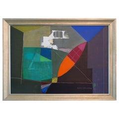 Rare Remo Michael Ferruggio Original Abstract Expressionist Oil Painting