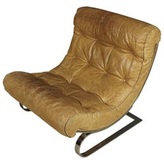 Rare Renato Balestra Lounge Chair, from France, 1970s