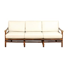 Rare Restored Campaign Sofa by John Wisner for Ficks Reed, circa 1954