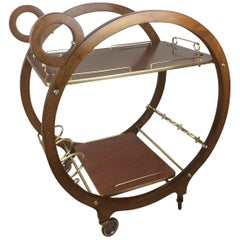Rare Restored French Bar Cart or Drinks Trolley, circa 1940s