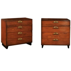 Rare Restored Pair of Commodes by John Wisner for Ficks Reed, circa 1954