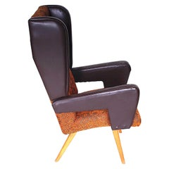 Rare Retro Wing Chair, circa 1965