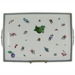 Rare Richard Ginori Antico Doccio Italian Fruits and Flowers Porcelain Platter