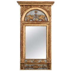 Rare Richly Carved Mirror, Properly Stockholm Master, circa 1790-1810