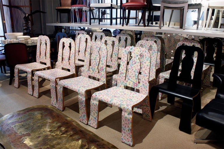 Rare Robert Venturi Set of 14 Queen Anne Chairs for Knoll circa 1984 'Signed' For Sale 5