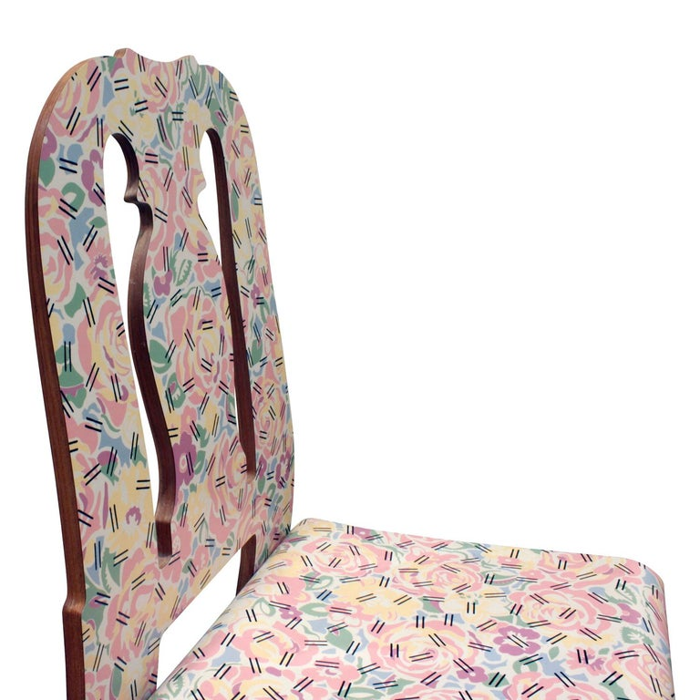 Laminate Rare Robert Venturi Set of 14 Queen Anne Chairs for Knoll circa 1984 'Signed' For Sale