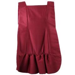 Rare Roberto Capucci couture raspberry pink wool/silk fabric dress