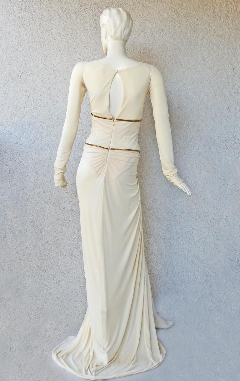Women's Rare Roberto Cavalli Runway Grecian Serpent Silk Dress Gown For Sale