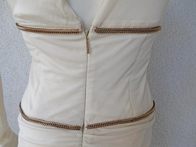 Rare Roberto Cavalli Runway Grecian Serpent Silk Dress Gown For Sale 1