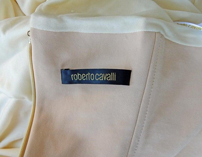 Rare Roberto Cavalli Runway Grecian Serpent Silk Dress Gown For Sale 2