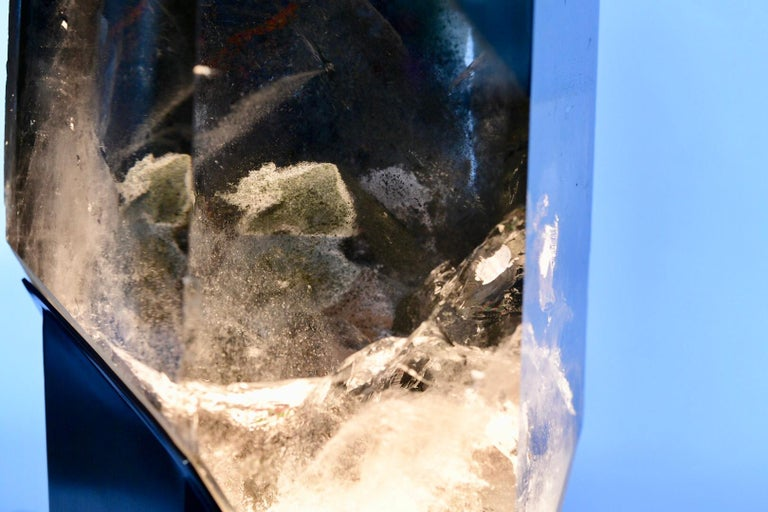 Rare Rock Crystal Sculpture Light For Sale 2