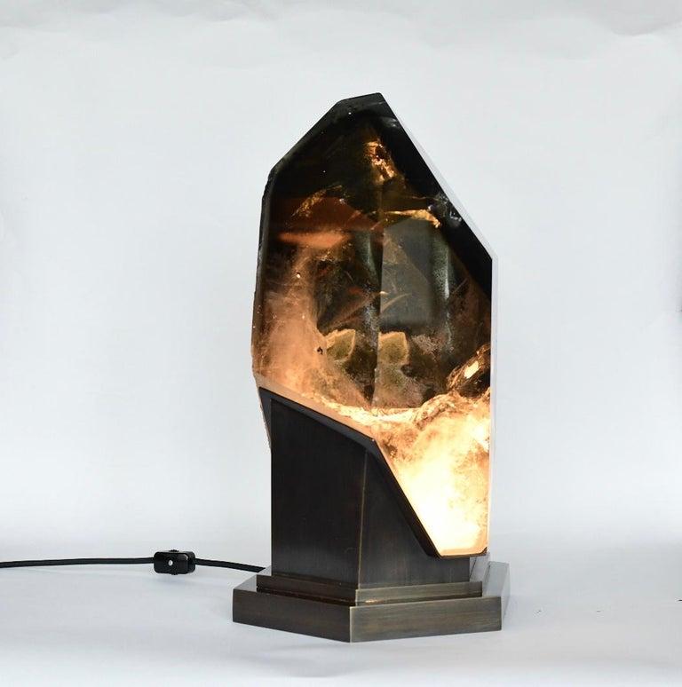 Rare Rock Crystal Sculpture Light For Sale 3
