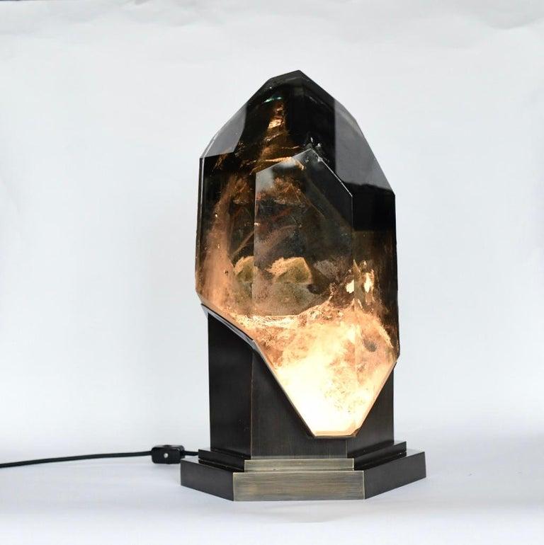 Rare Rock Crystal Sculpture Light For Sale 4