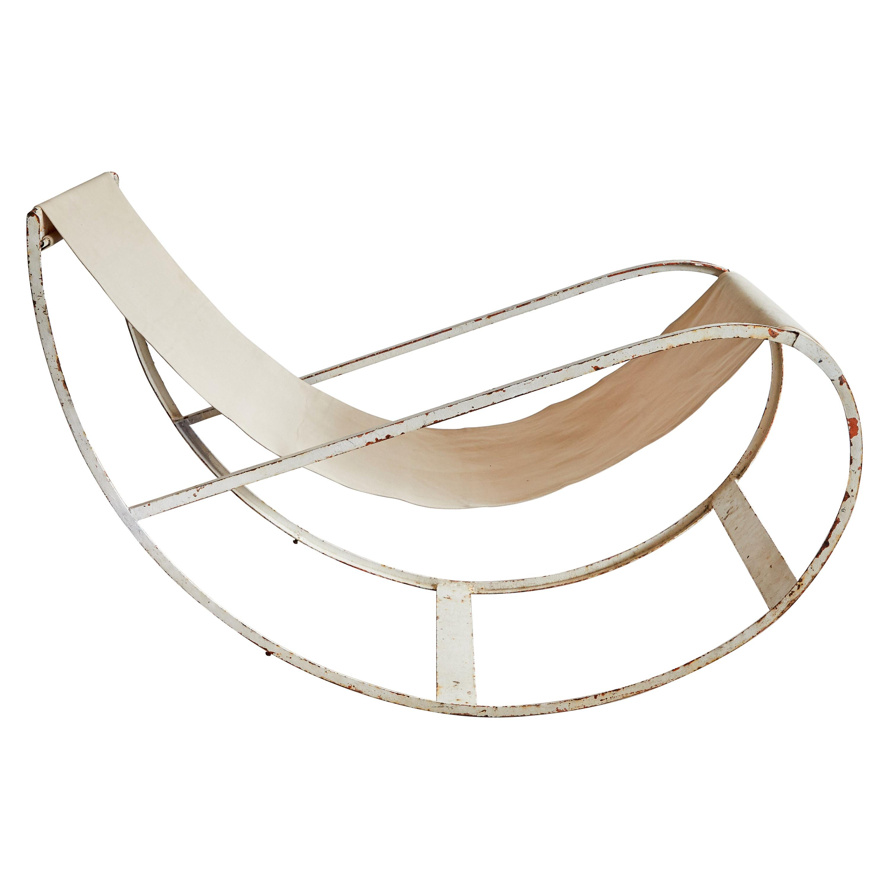 Rare Rocking Chair by François Turpin