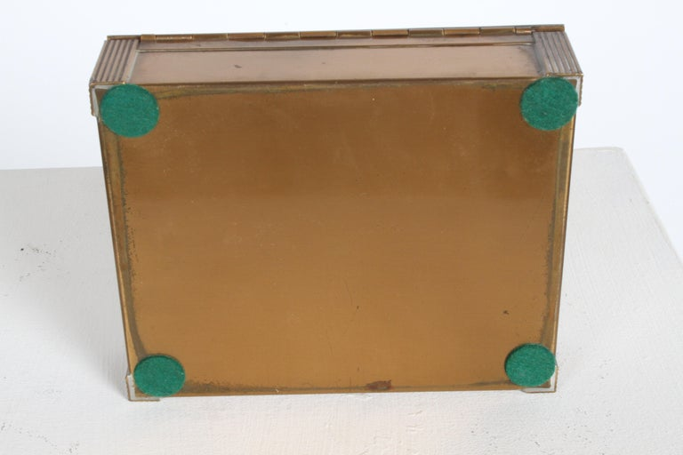 Rare Rockwell Kent for Chase Bacchus Art Deco Copper Cigarette Box For Sale 10