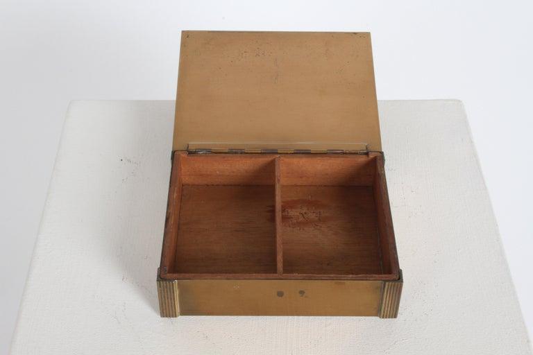 Rare Rockwell Kent for Chase Bacchus Art Deco Copper Cigarette Box For Sale 2